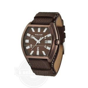 【Police ポリス メンズ 腕時計 Men's PL-12548JSBN/12 Distinct Silver Brown Watch】