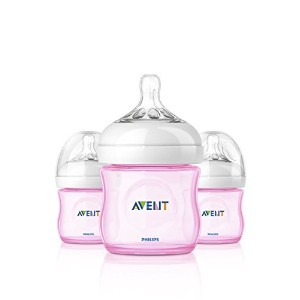 Philips AVENT Natural Bottle Set 3PK - 4oz (Girl) by Philips AVENT