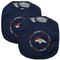 Baby Fanatic Team Color Bibs, Denver Broncos, 2-Count by Baby Fanatic (English Manual)
