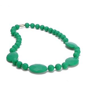 Chewbeads Perry Teething Necklace, 100% Safe Silicone - Emerald Green by Chewbeads