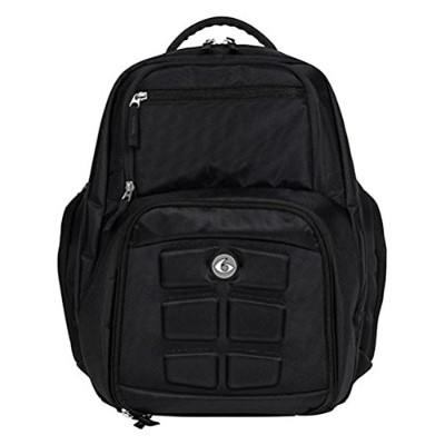Fitness Expedition Backpack Meal Mangement System 300 Stealth Black by 6 Pack Fitness