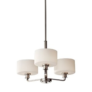 Murray Feiss F2772/3BS Kincaid 3 Light Single Tier Chandelier, Brushed Steel by Murray Feiss