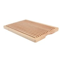 T&G 365 x 255 x 30 mm Woodware Hevea Wood Bread Cutting Board with Removeable Section by T&G...
