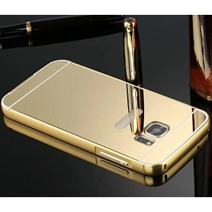 2017 Galaxy S8 ケース, Shiny Awesome Make-up Mirror Plated Aluminum Metal Frame Bumper Slim カバー,...