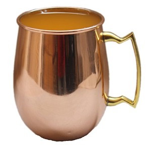 Street Craft Authentic銅Moscow Mule Mug with、銅Moscow Muleマグカップ/カップ、capacity-20オンス、蓋フリーハンドル、100 ...