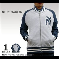 【即納】BLUE MARLIN(ブルーマーリン) NEWYORK FLEECE JACKET @ NAVY/GREY [ABBM7003]スウェット【YDKG-kd】【RCP】