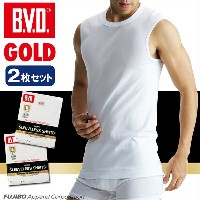 B.V.D.GOLD 2枚セット スリーブレス(5L)【BVD直営】/ギフト/メンズ 【コンビニ受取対応商品】