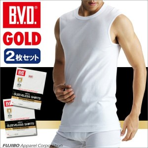 B.V.D.GOLD 2枚セット スリーブレス(6L)【BVD直営】/ギフト/メンズ 【コンビニ受取対応商品】