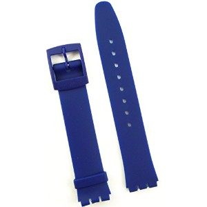 New 17mm (20mm) Sized Resin Strap Compatible for Swatch® Watch - Blue - RG14B