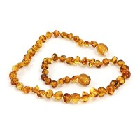 Momma Goose Teething Necklace, Cognac, 21 by Momma Goose