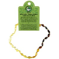 Momma Goose Baltic Amber Baby Necklaces (small, olive rainbow) by Momma Goose
