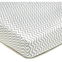 American Baby CompanyPercale Fitted Crib Sheet, Zigzag Grey by American Baby Company [並行輸入品]