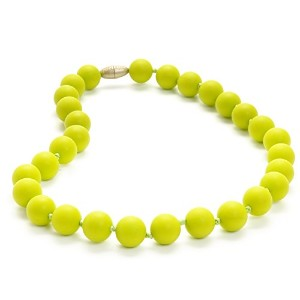 Juniorbeads by Chewbeads Jane Jr. Necklace, 100% Safe Silicone - Chartreuse by Chewbeads