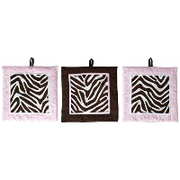 Pam Grace Creations Set of 3 Wall Hangings, Zara Zebra by Pam Grace Creations