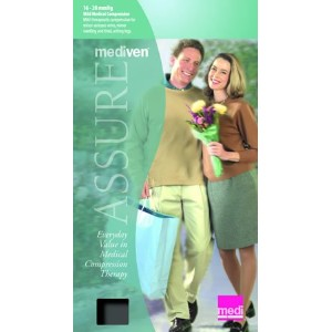 Mediven Assure, Closed Toe, 16-20mmHg, Knee High Compression Stocking, Beige, Small by Medi