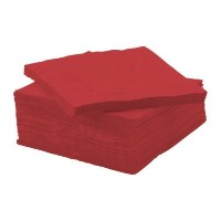 Ikea's FANTASTISK Red Beverage Napkins - by Ikea