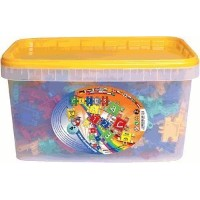 Bucket Of 380 ピース and 5 Axles and Stickers ブロック おもちゃ