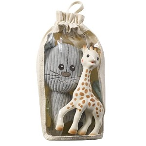 Sophie la Girafe Soft Toy Lazare and Original Sophie Set