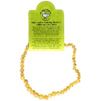 Momma Goose Baroque Teething Necklace, Unpolished Lemon, Small/11-11.5 by Momma Goose