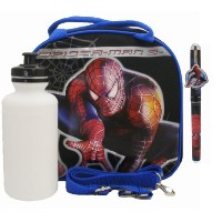 Spiderman Lunch Bag with a Water Bottle - Black by Spiderman-3