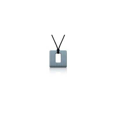 Siliconies Square Pendant (Teething/Nursing/Sensory) - Silver Grey by Siliconies [並行輸入品]