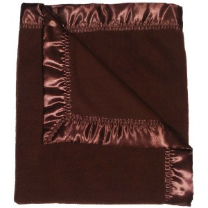 Dee Givens & Co-Raindrops 1807 Neutral Chocolate Fleece Receiving Blanket - Chocolate Brown - 28 in...