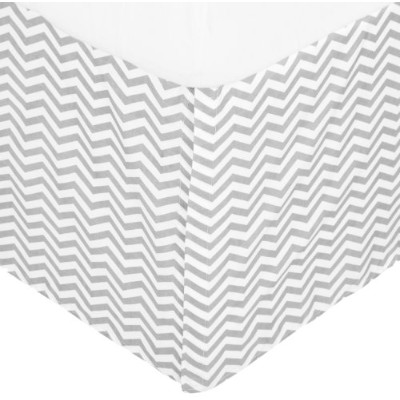 American Baby Company 100% Cotton Tailored Bed Skirt with Pleat, Gray Zigzag by American Baby...
