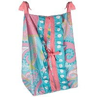 My Baby Sam Pixie Baby Diaper Stacker, Aqua and Pink, 2 Count by My Baby Sam