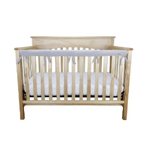Trend Lab CribWrap Fleece Rail Cover for Long Rail, Gray, Narrow for Crib Rails Measuring up to 8...