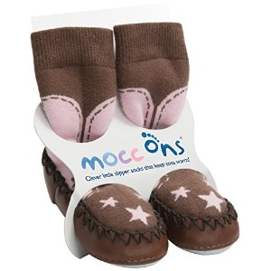 Mocc Ons Cute Moccasin Style Slipper Socks, Cowgirl - 18-24 Months