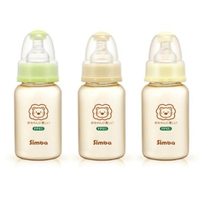 Simba BPA Free PPSU Natural Flow Standard Neck Feeding Bottle (Set of 3 (5 oz)) by Simba
