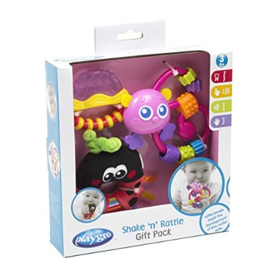 Playgro Shake 'n' Rattle Baby Gift Pack - Pink by Playgro