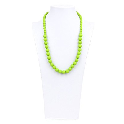Bumkins Nixi Ciclo Silicone Teething Necklace, Green by Bumkins