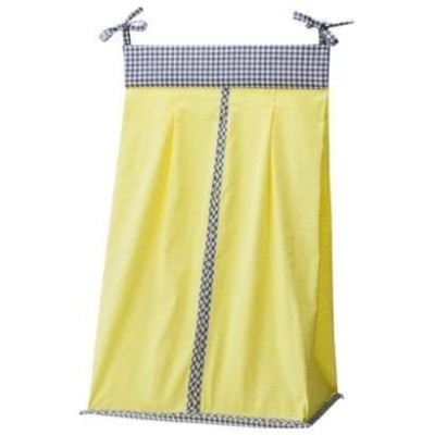 Mini Dot & Gingham Diaper Stacker - Yellow by Trend Labs by Trend Lab