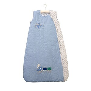 Baby Sleeping Bag approx. 2.5 Tog - Plane&Train - 0-6 months/28inch by Schlummersack