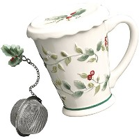 Pfaltzgraff Winterberry Covered Mug with Infuser Oneサイズ