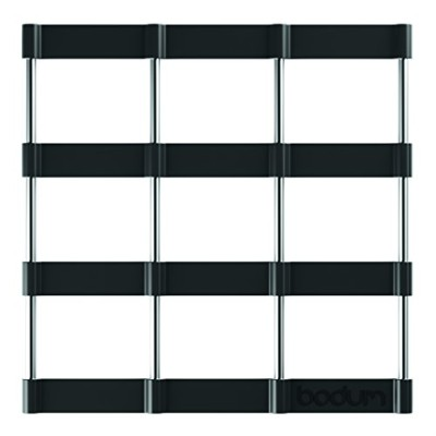 Bodum Bistro Black Trivet Table Worktop Protector Stand Silicone Stainless Steel
