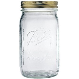 Ball Mason Jar Wide Mouth 32 oz. (Quart) with Lid and Band by Ball