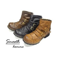 BZ New Side Two Belt Smooth Boots 10P07Nov15