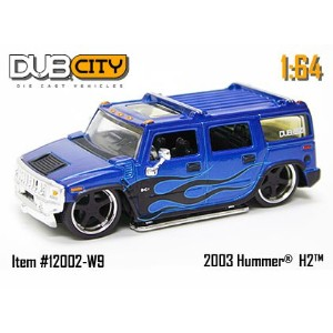【送料無料】【2004 Jada Dub City 1:64 Scale 2003 Hummer H2 Blue #096】 b000fu08y8