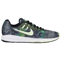 (取寄)Nike ナイキ メンズ エア ズーム ストラクチャ 20 Nike Men's Air Zoom Structure 20 Black Barely Volt Legion Green