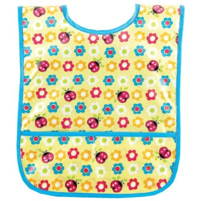 AM PM Kids! Laminated Bib, Ladybugs & Flowers, Small by AM PM Kids!