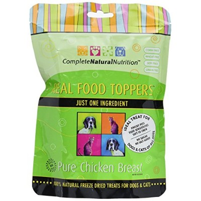 Complete Natural Nutrition Real Food Toppers Chicken Breats Dog Cat Treats 4z