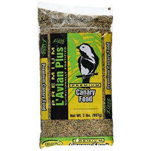L'Avian Plus Premium Canary Nutrional Fortified Pet Bird Snack Treat Food 2lbs