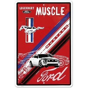 Ford Mustang Legendary Muscle Car Retro Vintage Tin Sign by Poster Revolution