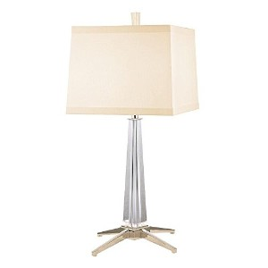Hudson Valley照明Hindeman 1ライトテーブルランプwithクリームeco-paper Shade 12 in. W x 26.25 in. H L387-PN 1