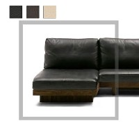 送料無料 Masterwal DANISH SOFA ARMLESS COUCH70(WALNUT)(本革)(RANK L1) DNSO-ALCC70-WN (cc-wn)【マスターウォール...