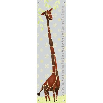 Oopsy Daisy Gillespie Giraffe Yellow and Grey by Meghann O'Hara Growth Charts, 12 by 42-Inch by Oopsy Daisy
