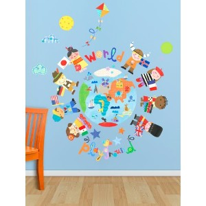 Oopsy Daisy The World Is Your Playground Peel and Place, Blue, 54 x 60 by Oopsy Daisy