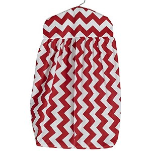 Baby Doll Chevron Dot Diaper Stacker, Red by BabyDoll Bedding